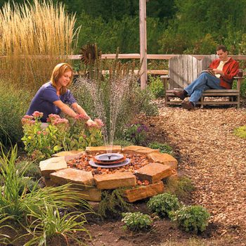 soothing fountain complete backyard projects