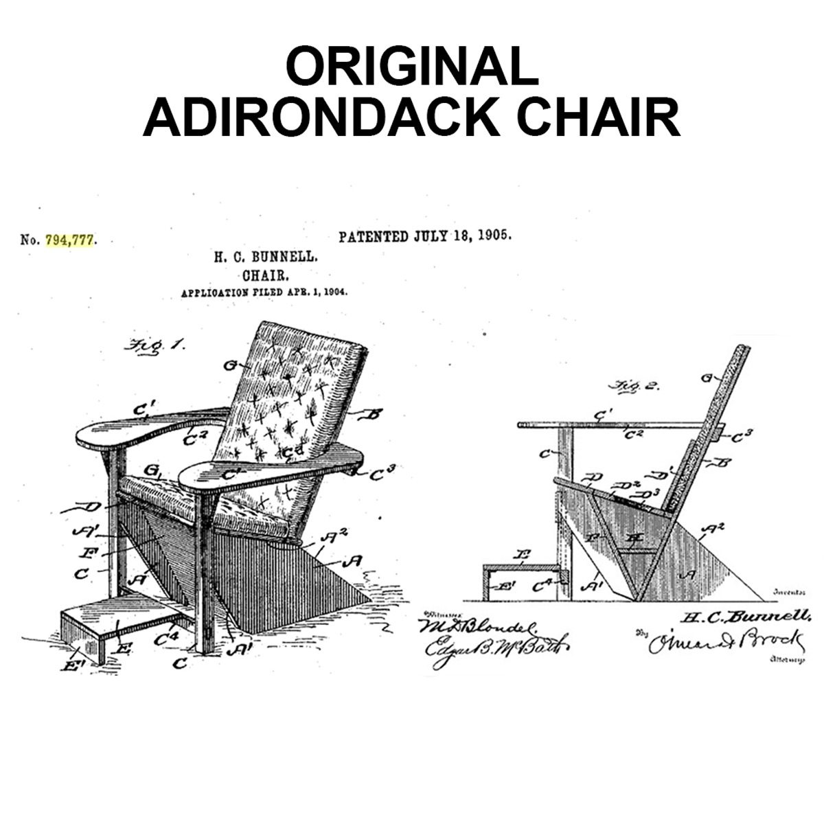 original ardirondack chair