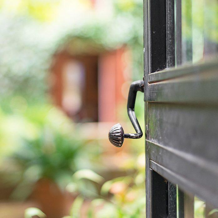 Open door to garden