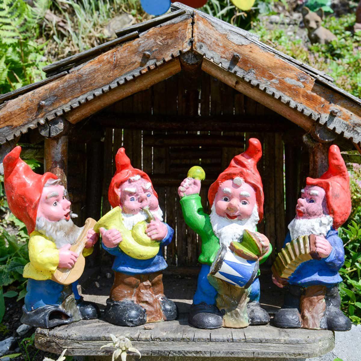 Garden Gnomes plastic tacky lawn ornaments