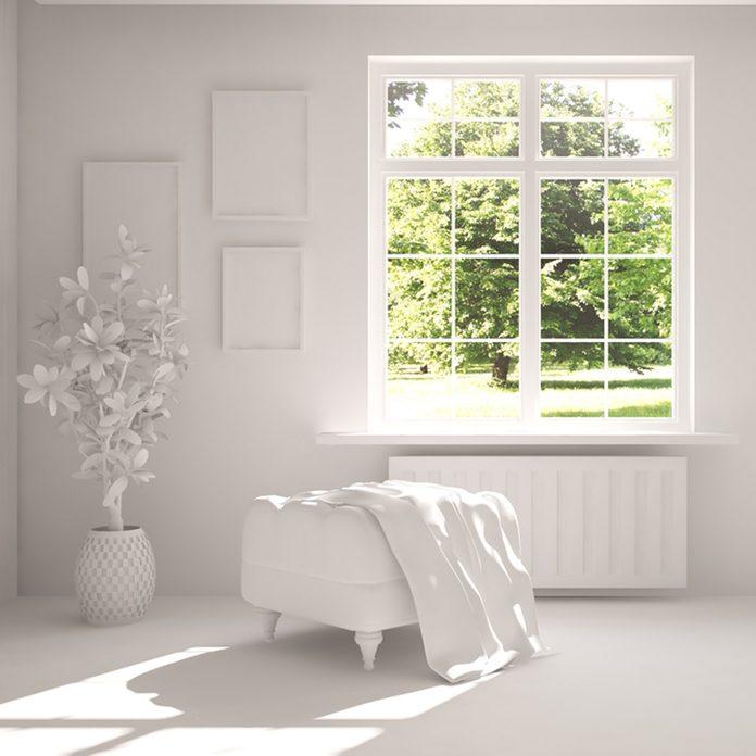 white room large glass windows