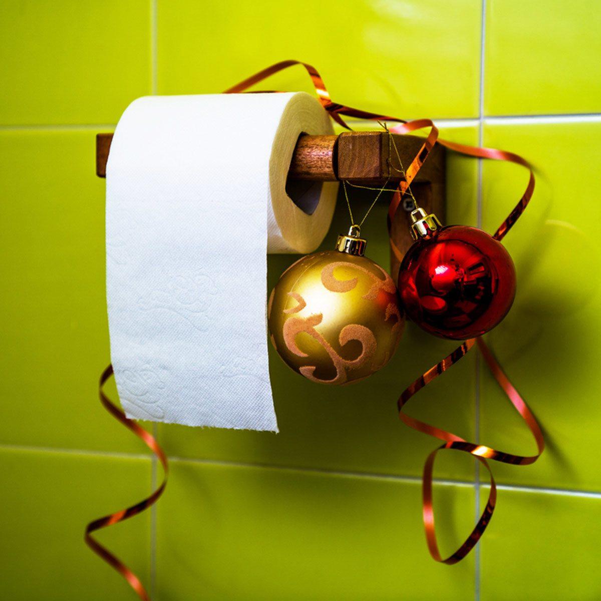 holiday bathroom toilet paper holder