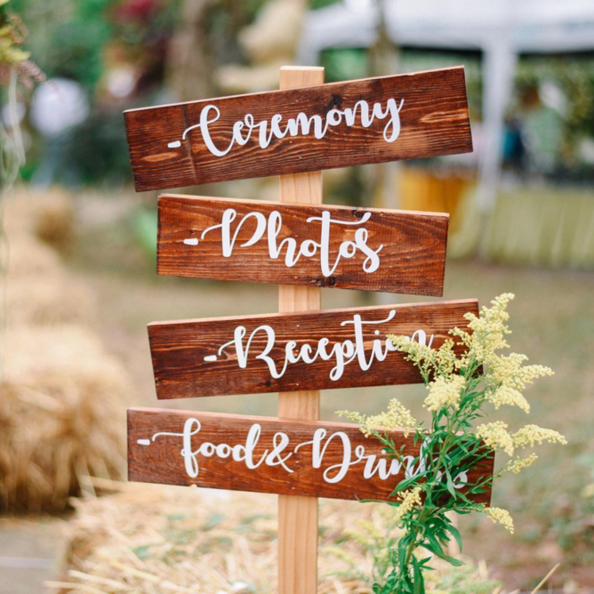 DIY wood wedding signs directions