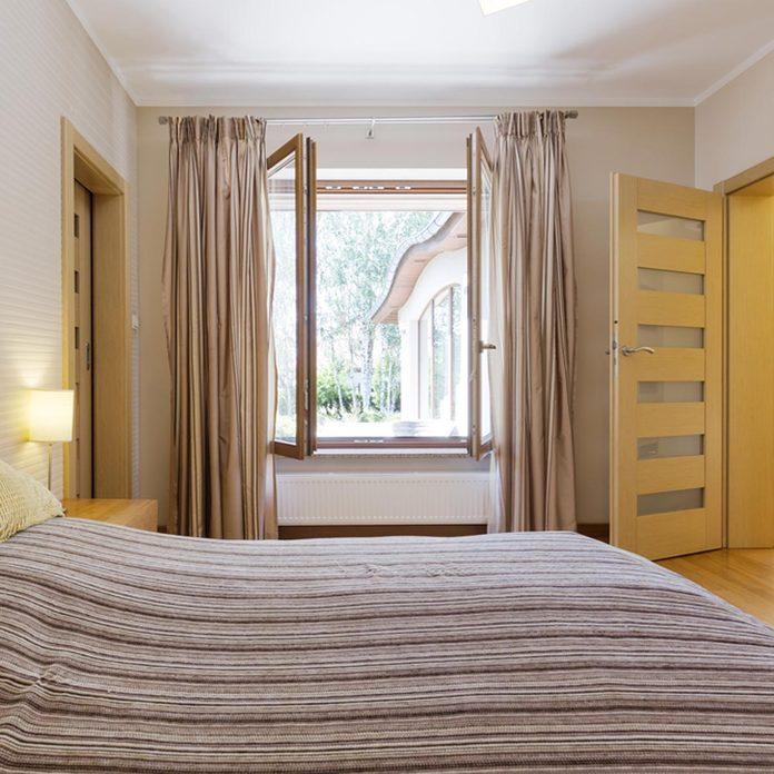 bedroom open window