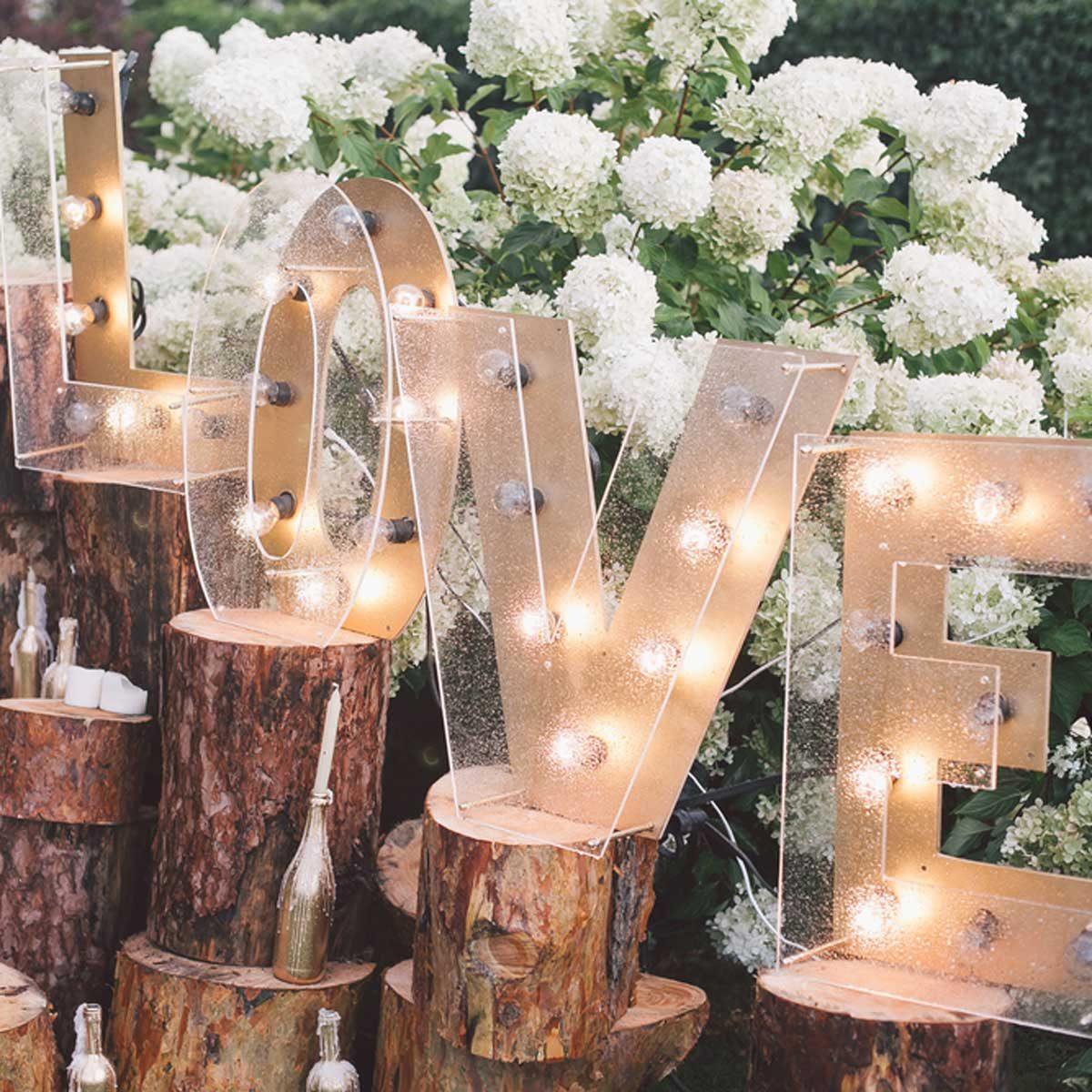 marquee letters wedding love garden wedding decorations