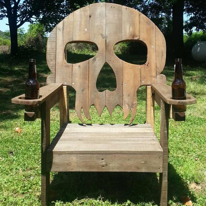 skull adirondack chair pallet adirondack chair