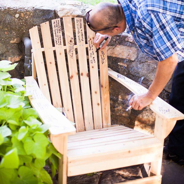 wedding signed adirondack chair