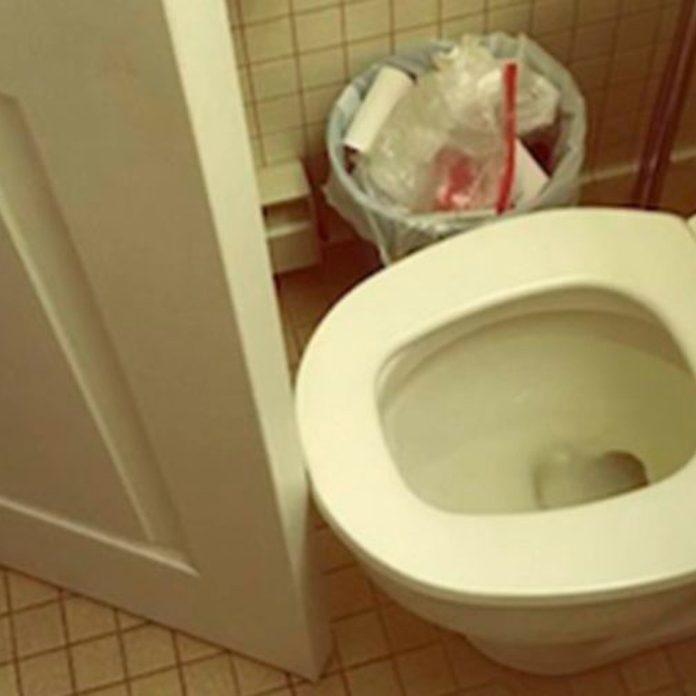 door toilet