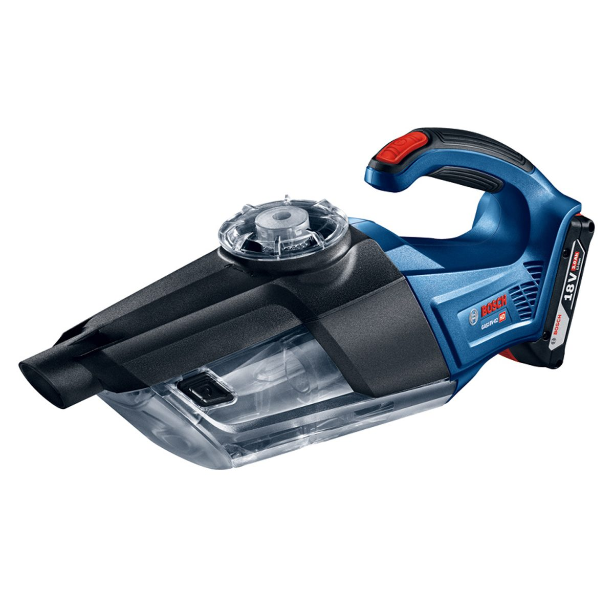 A Blue and Black Bosch Handheld Vacuum | Construction Pro Tips
