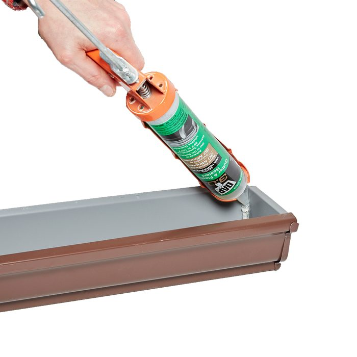 Caulking in the end of a gutter   Construction Pro Tips