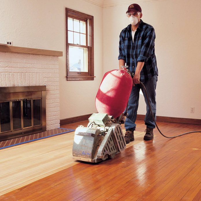 refinish hardwood floors sanding