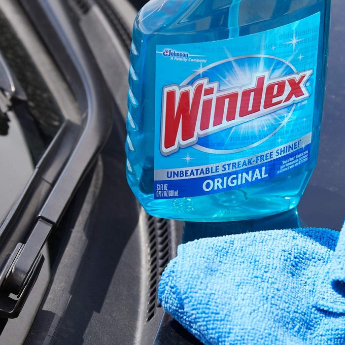 HH wiper blades clean windshield wipers with windex