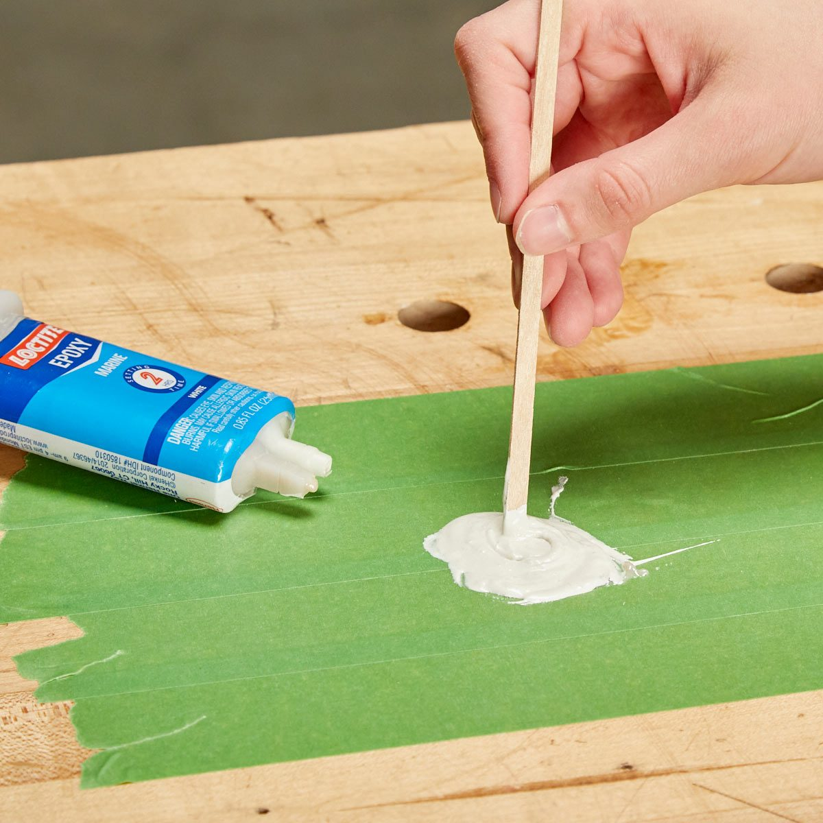 HH painters tape temporary mixing surface