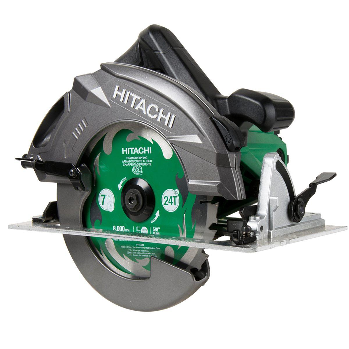 Green and Grey Hitachi Circular Saw   Construction Pro Tips