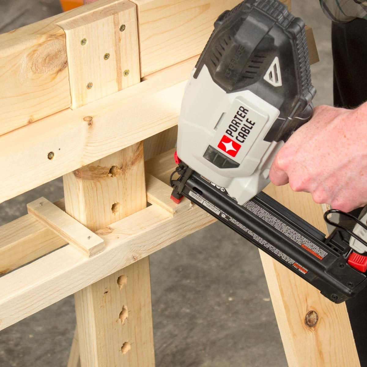 Adjustable Sawhorse Guides