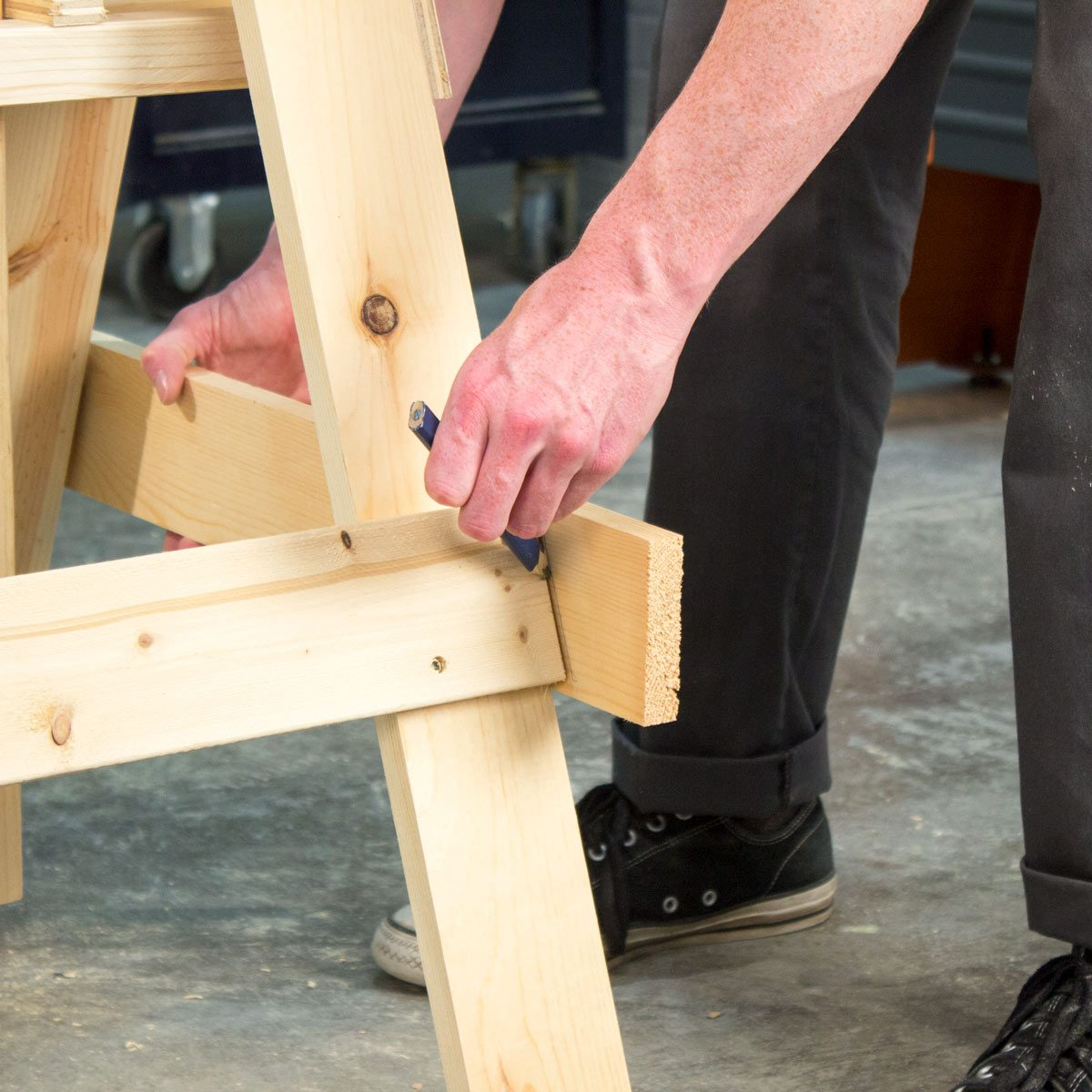 Adjustable Sawhorse Scribe ends