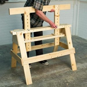 Saturday Morning Workshop: How To Build An Adjustable Sawhorse