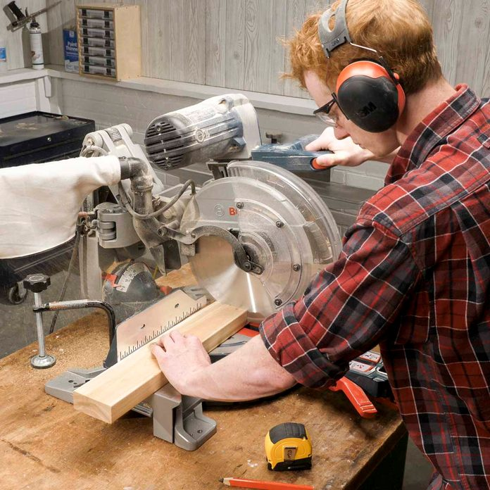 Trestle bench cut boards to length