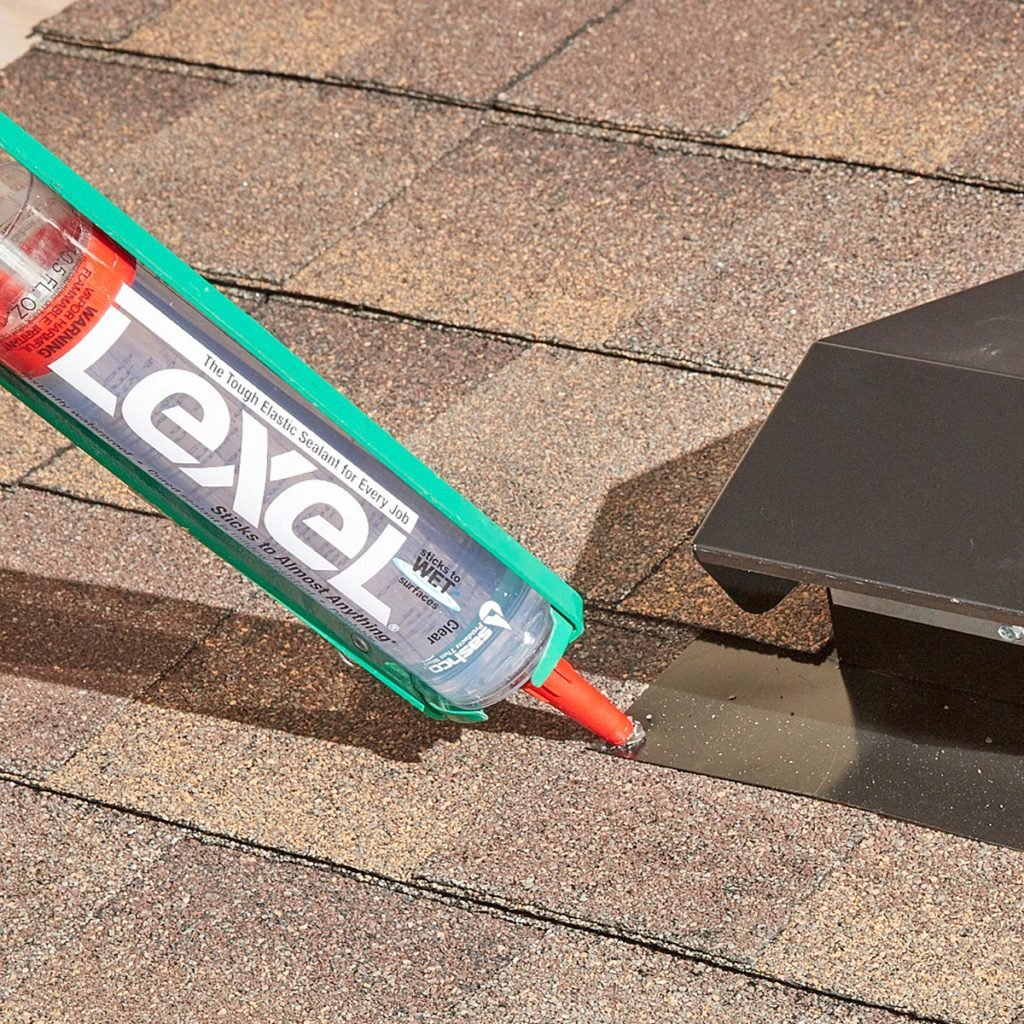 Caulking around roof vents and shingles | Construction Pro Tips