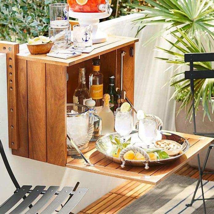 balcony bar balcony railing table deck rail bar