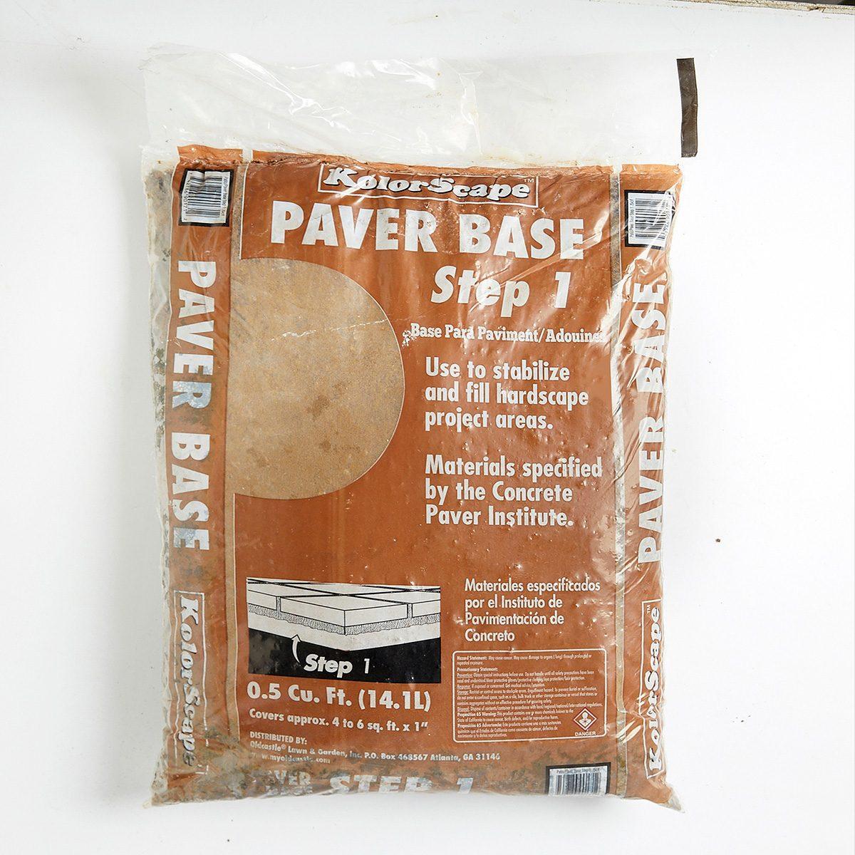 Sand as Paver Base