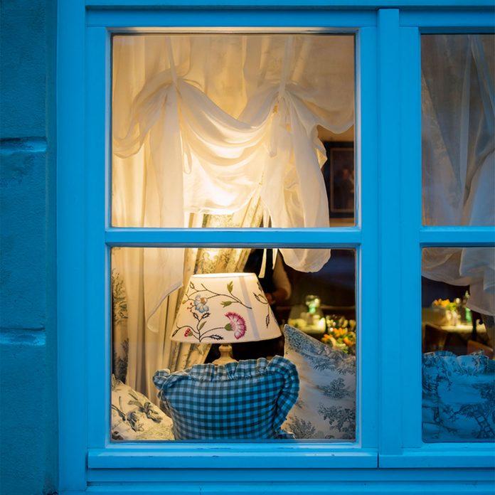 window at night