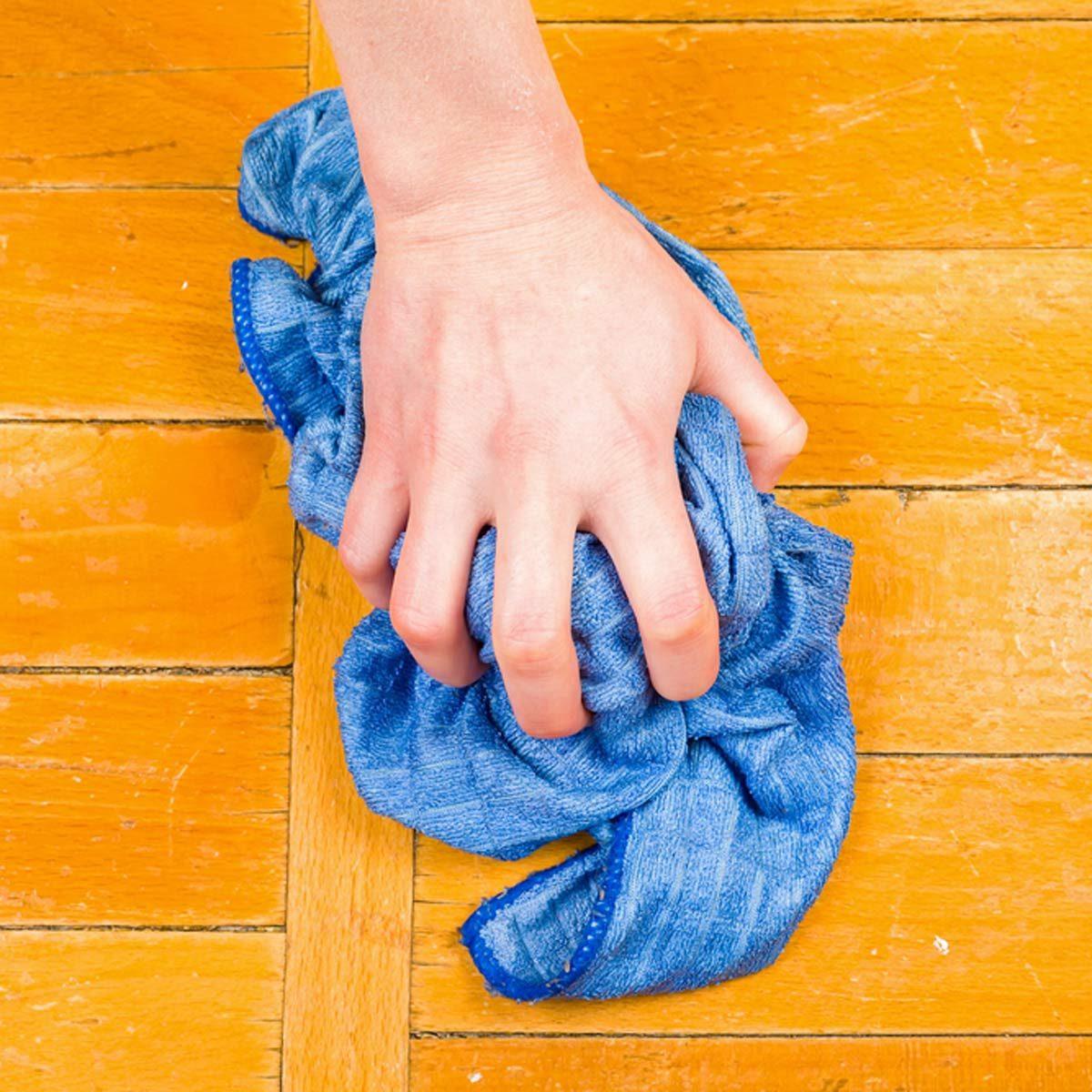wash wood floors