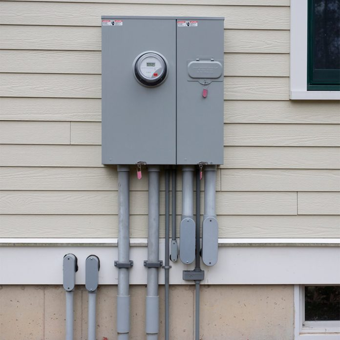 electrical box on house