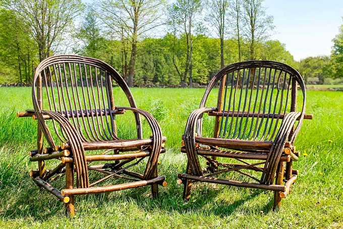 two willow chairs