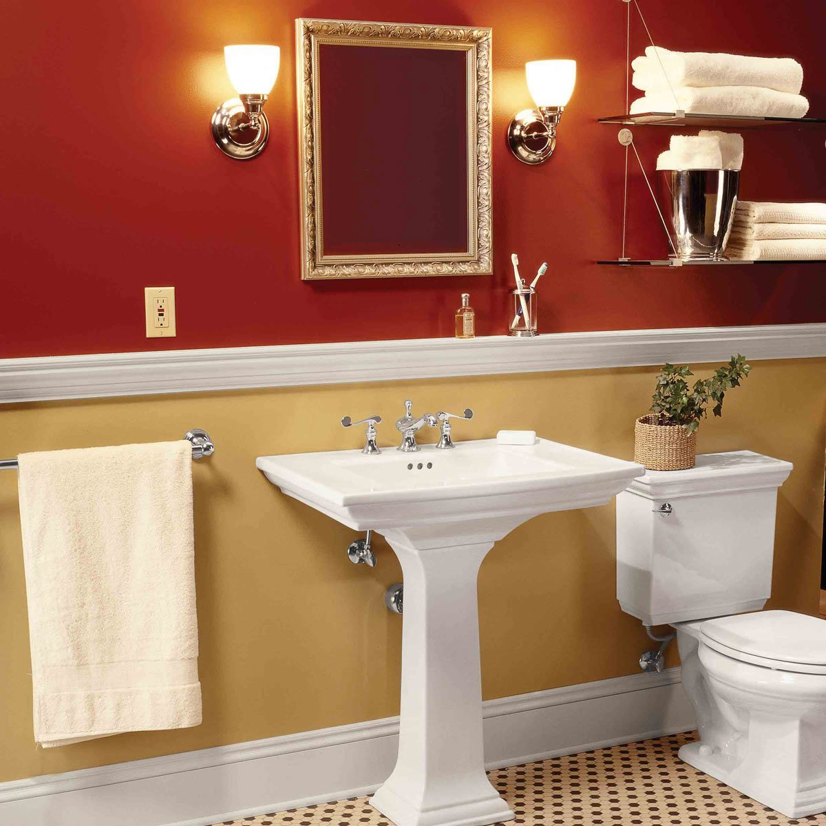 Bathroom remodel pedestal sink