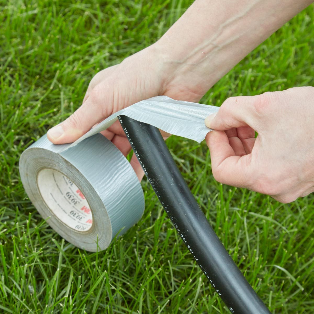 keep pipes clean with duct tape irrigation