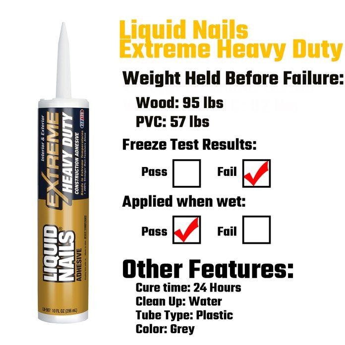 Liquid Nails Extreme Heavy Duty