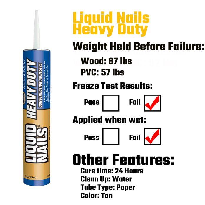 Liquid Nails Heavy Duty