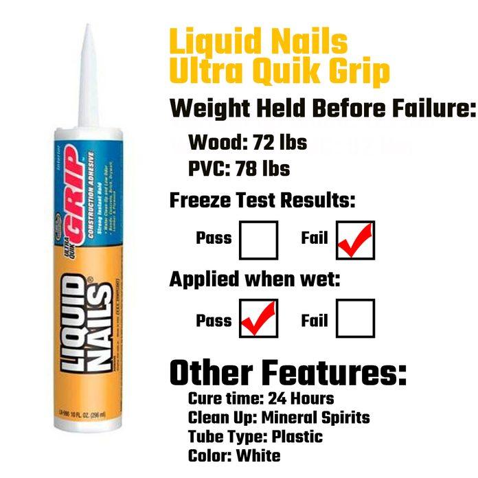 Liquid Nails Ultra Quik Grip