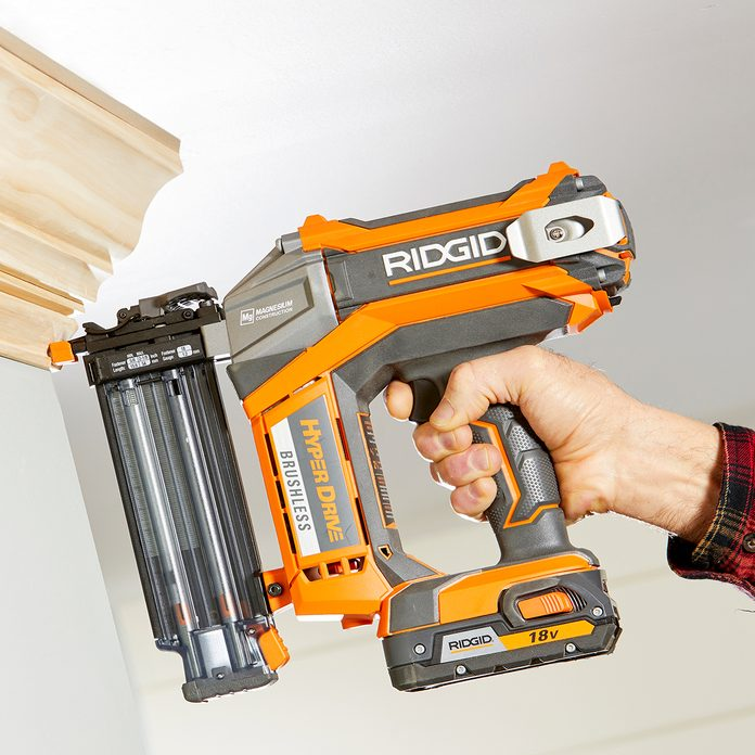 Ridgid brad nailer on crown molding | Construction Pro Tips