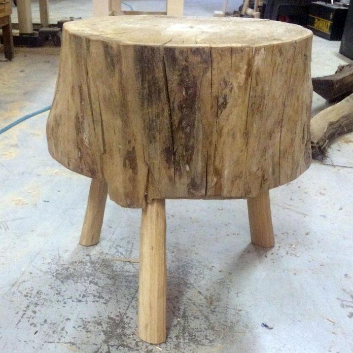 elm stump table