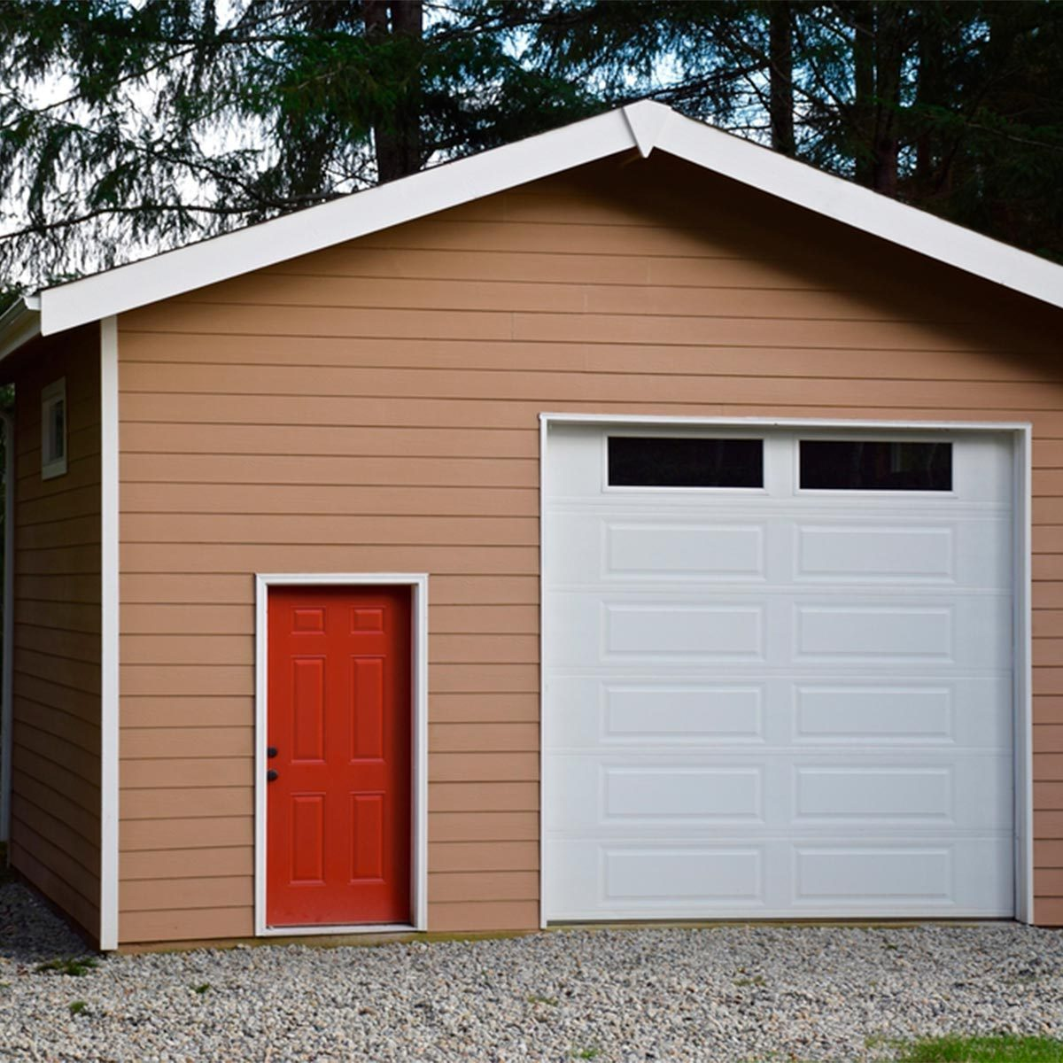 shed with red door