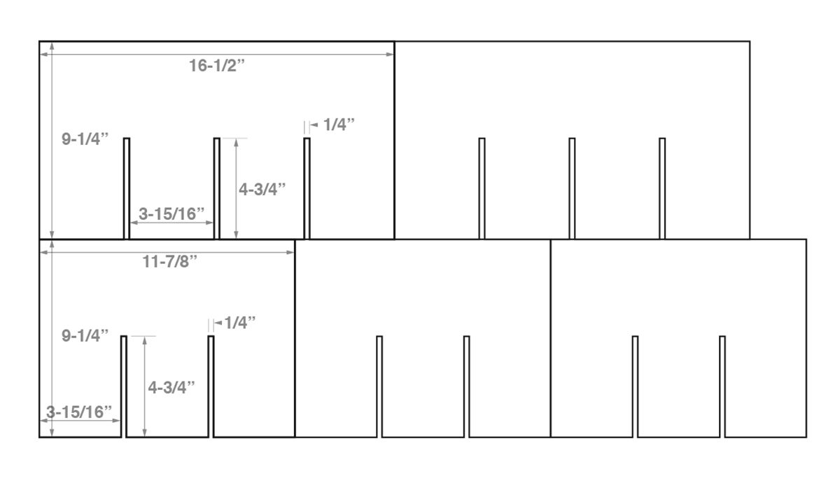 wine crate template