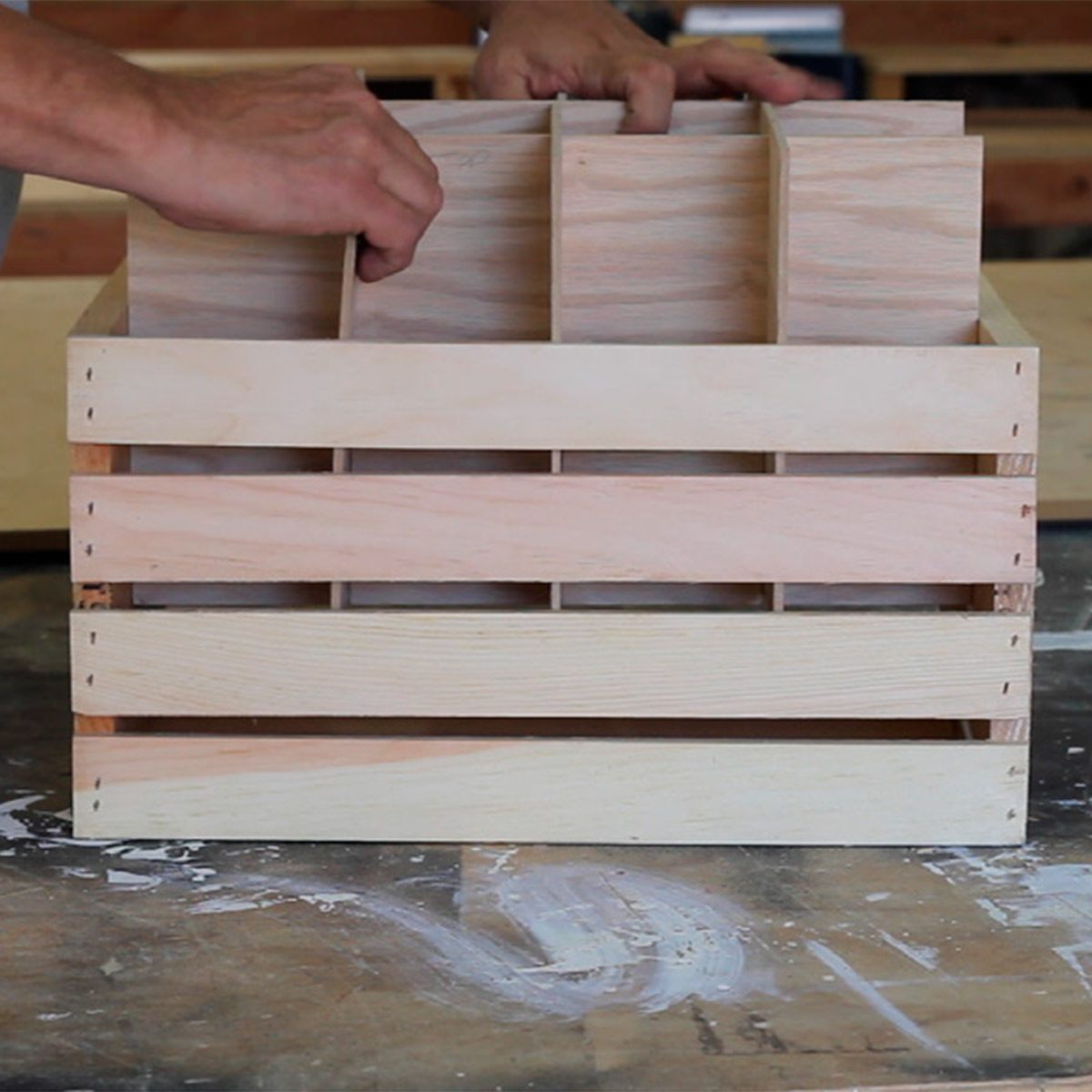 dividers in wine crate