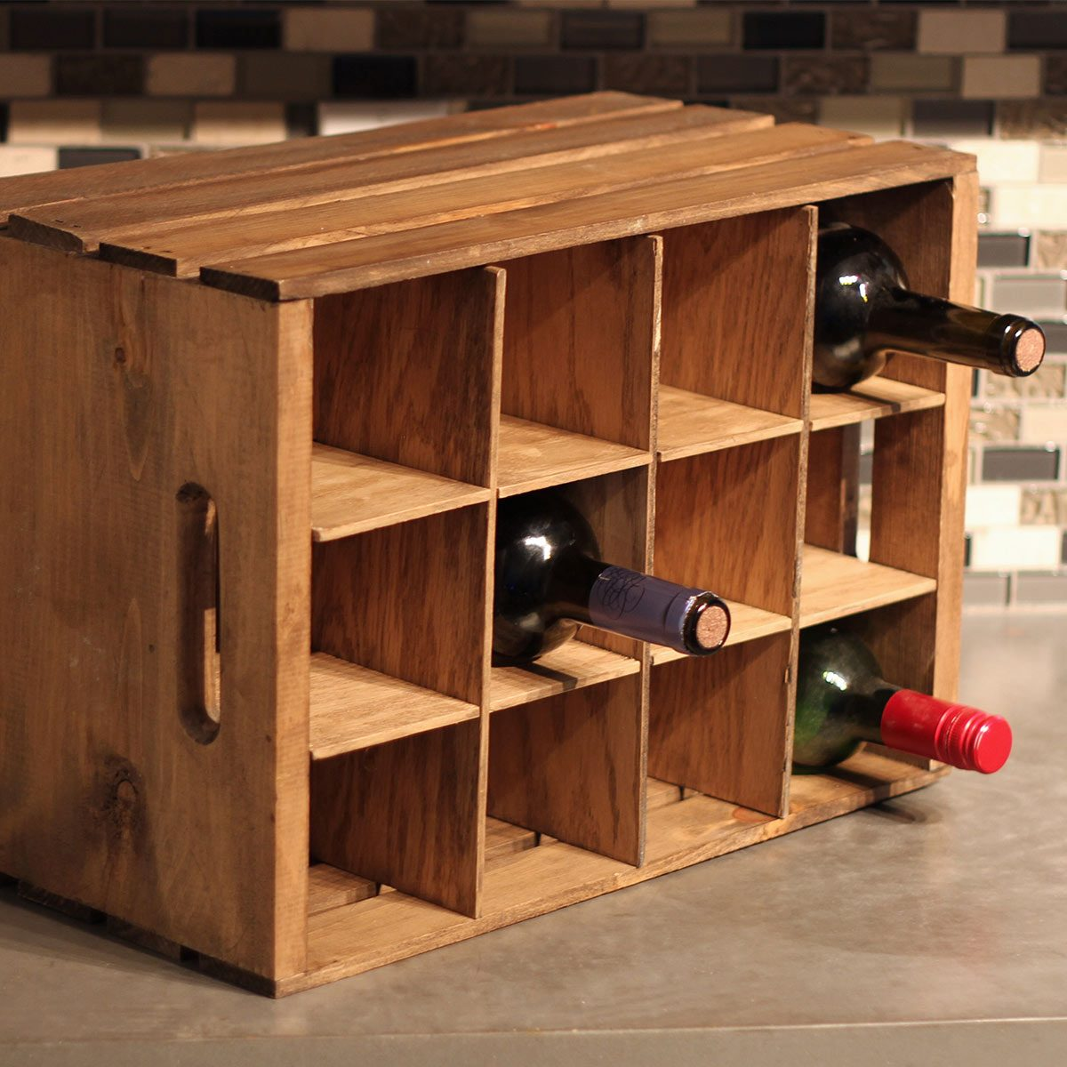 finished wine crate