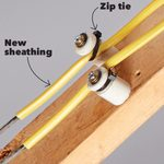 Easy Knob-and-Tube Insulation Fix