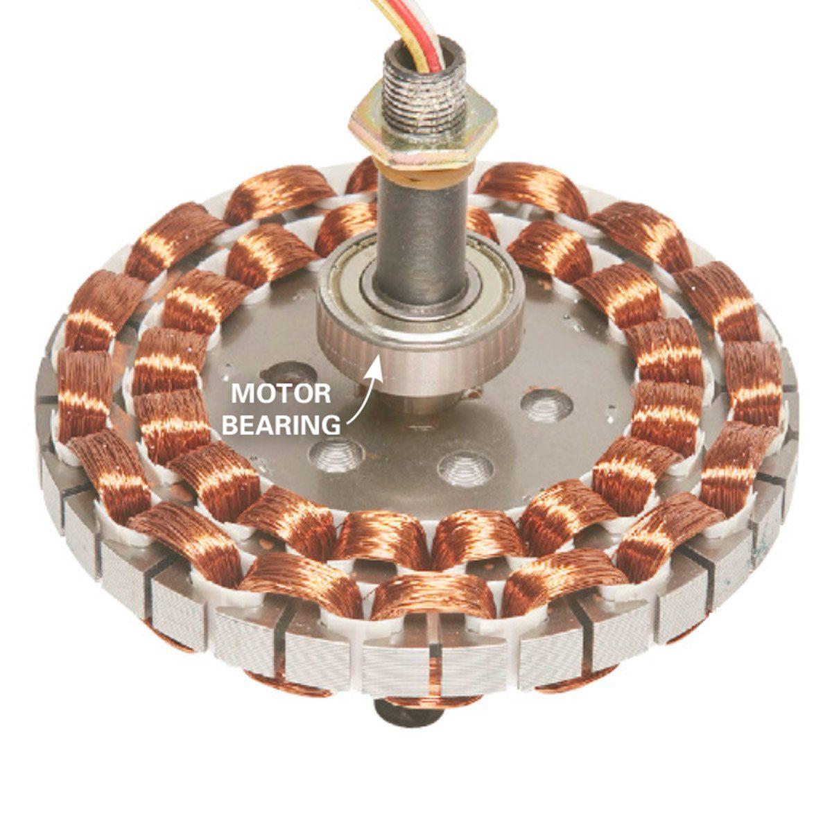 inside of ceiling fan
