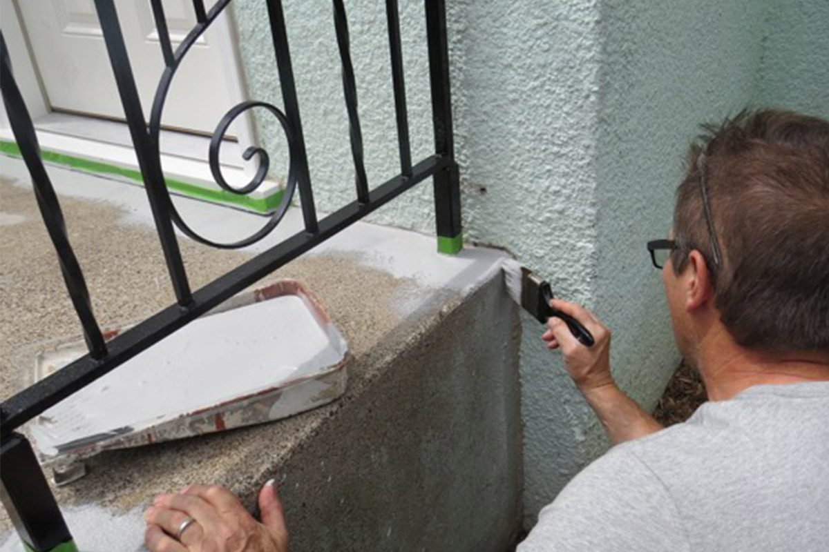 painting concrete stairs