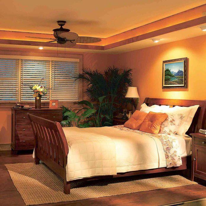 Bedroom makeover after soffit lights recessed lighting