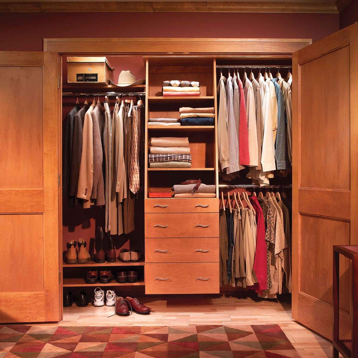 closet organization storage after