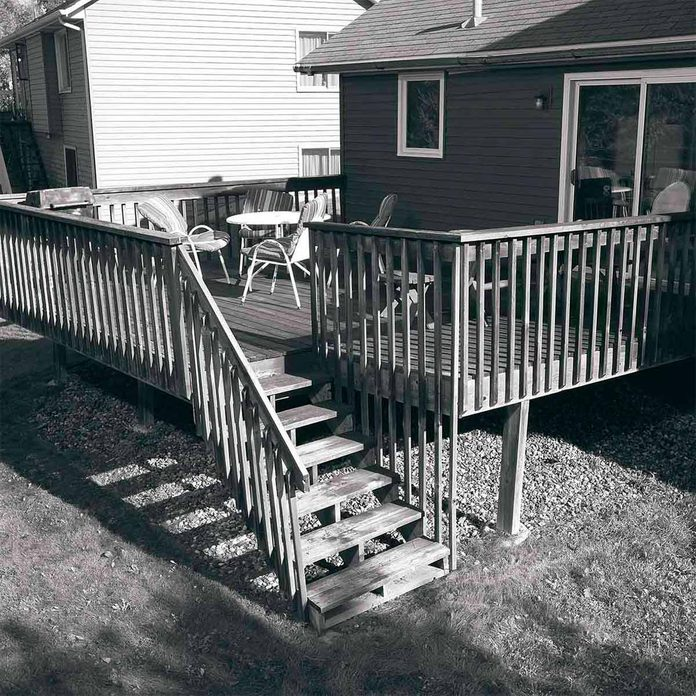 before deck makeover