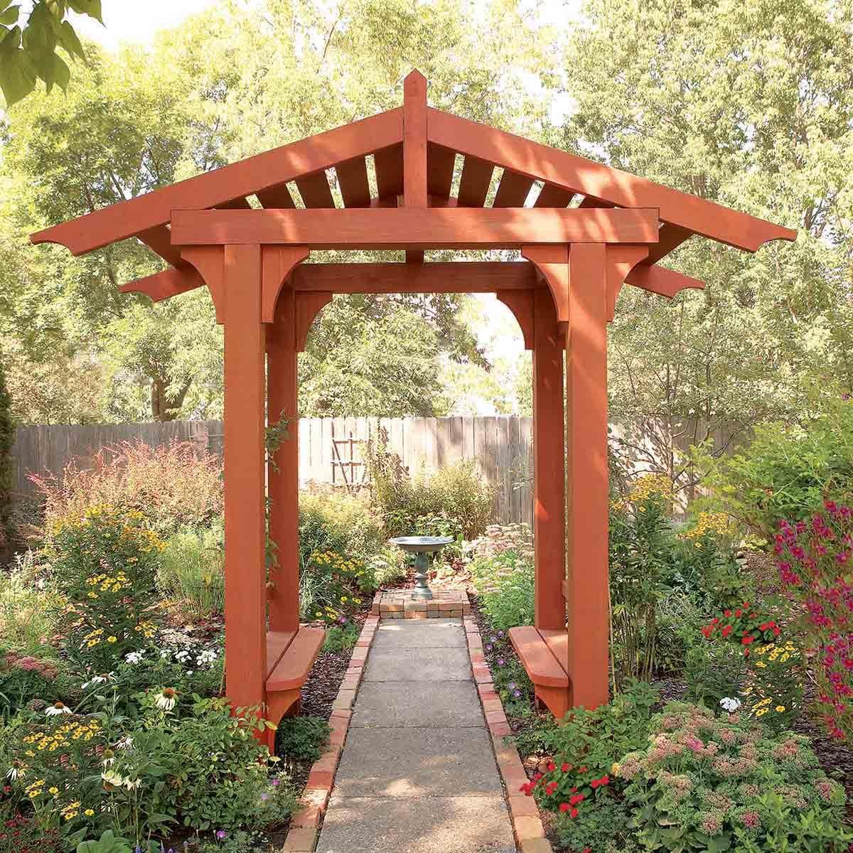 diy backyard idea arbor