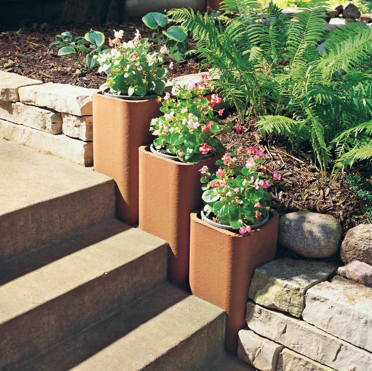 chimney flue planters terra-cotta
