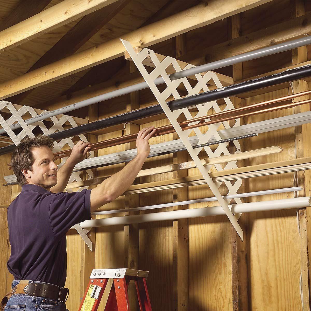 lattice garage rack