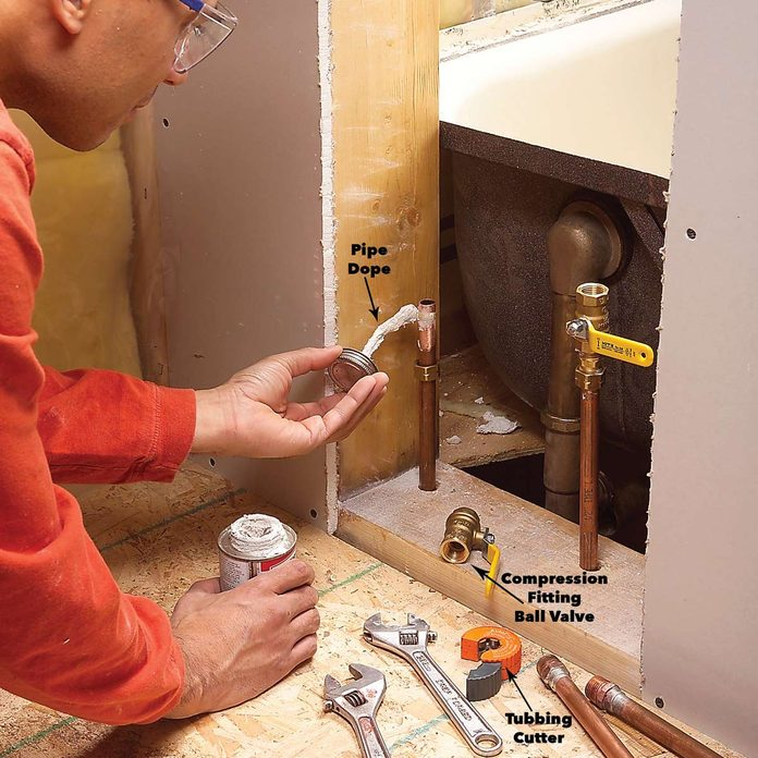 disconnect the tub plumbing